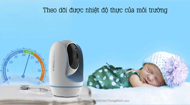 camera-thong-minh-foscamCamera thông minh foscam baby theo dõi được nhiệt độ thực của môi trường-baby-6