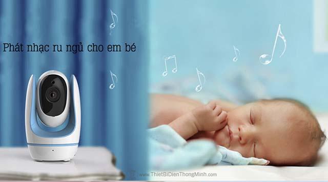 Camera foscam baby phát nhạc ru cho bé ngủ